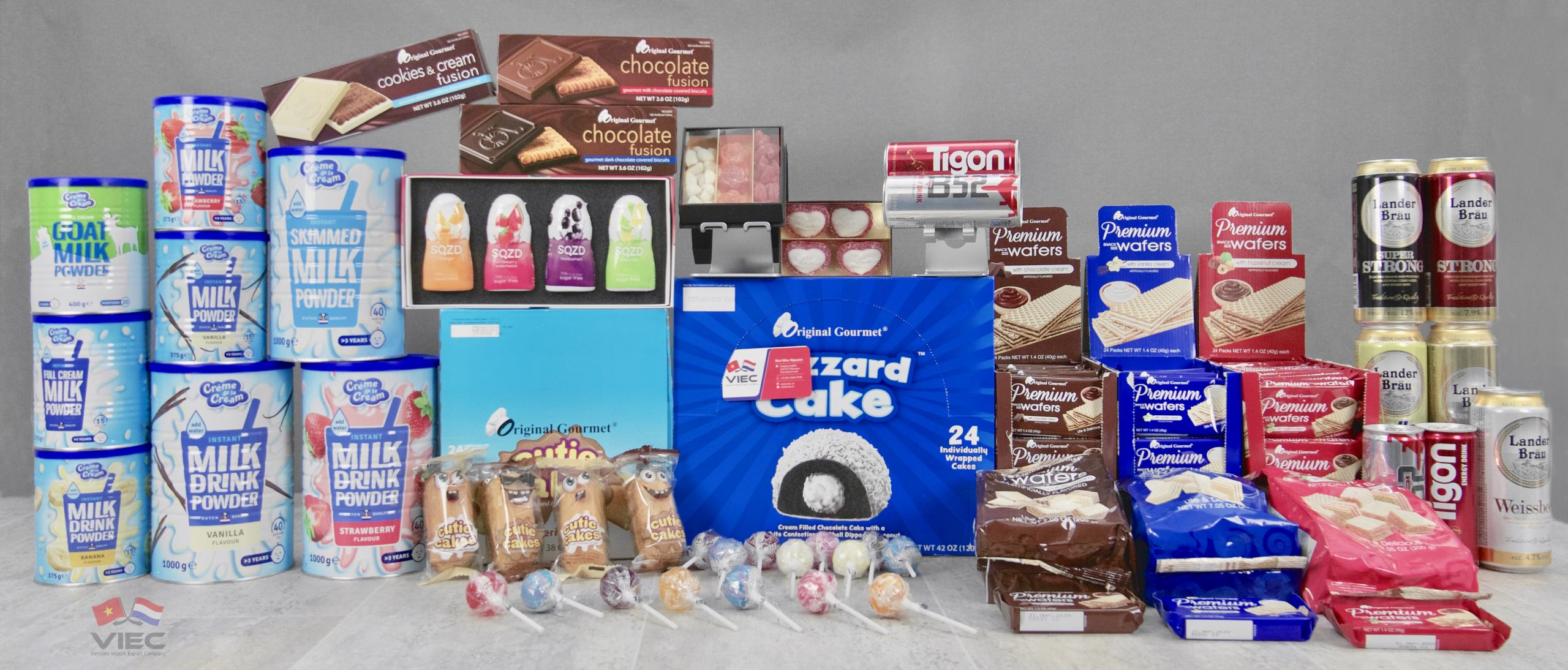 Confectionery and drinks from the Netherlands to Vietnam